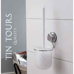 SZCZOTKA TOALETOWA WC NA PRZYSSAWKĘ 13x10,3x34 cm